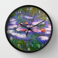 Claude Monet, Waterlilies, oil on canvas. Wall Clock by ArtsCollection