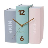 Table Clock Book - Black