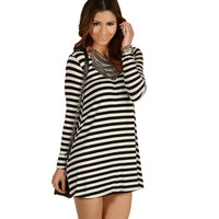 Sale-black Cant Get Enough Striped Tunic