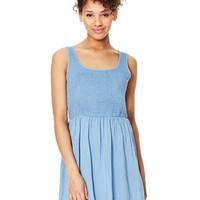 Smocked Top Dress - Chambray