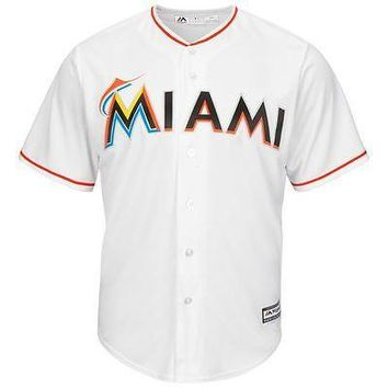 Miami Marlins Majestic Youth Official Cool Base Jersey MLB