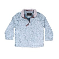 CHILD'S Frosty Tip 1/4 Zip Pullover in Aqua by True Grit