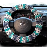 Steering Wheel Cover Bow Wheel Car Accessories Lilly Heated For Girls Interior Aztec Monogram Tribal Camo Cheetah Sterling Chevron Zigzag