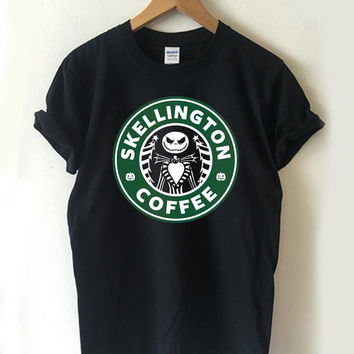 Skellington Coffee Halloween T-shirt Men, Women Youth and Toddler