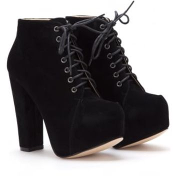 Synthetic Suede Ankle Boot   Attitude Clothing