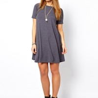 ASOS CURVE Swing Dress With Short Sleeves at asos.com