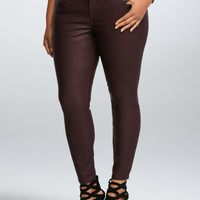 Torrid Premium Faux Leather Jegging - Oxblood (Tall)