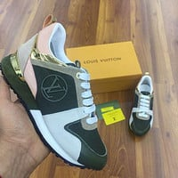 Louis Vuitton LV shoes with toe letters and tail letters sneakers fashion men's and women's shoes