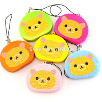 1PCS Cute Squishy Rilakkuma Toast Phone Straps Cartoon Bear Soft Bread Scented Charms