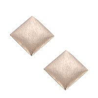 Square Stud Earrings in Gold