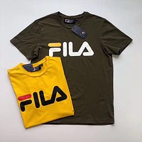 FILA Women Letter Short Sleeve Top