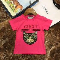 2018 Childrens Cheap gucci T Shirt hot sale ※047
