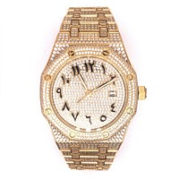 Gold Tone Arabic Dial Automatic Movement Presidential Watch