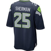 Richard Sherman Seattle Seahawks Nike Team Color Game Jersey - College Navy