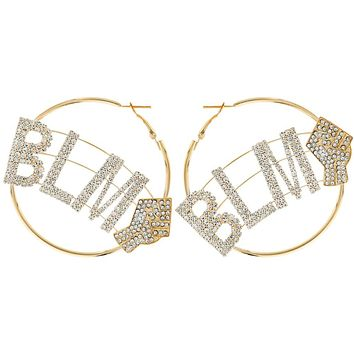 Black Lives Matter Word Hoop Earrings