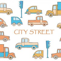 Toys vector buildings and cars by Alexz | Design Bundles