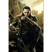 MQ3591 Hot Loki THOR The Dark World 2017 DC Marvel Movie Character Art Poster Silk Canvas Home Decoration Wall Picture Printings