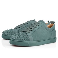 Cl Christian Louboutin Louis Junior Spikes Men's Flat Everest/everest Mat Suede 18s Shoes 1180051u265 - Best Online Sale