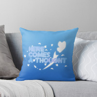 'Here Comes A Thought' Throw Pillow by ConnerMac