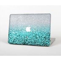 The Aqua Blue & Silver Glimmer Fade Skin for the Apple MacBook Air 13""