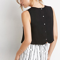 Button-Back Crop Top