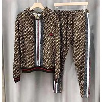 BURBERRY Autumn Winter Women Men Fashion Long Sleeve Hoodie Sweater Pants Trousers Set Two-Piece