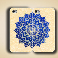 iphone case, i phone 4 4s 5 case,cool cute iphone4 iphone4s  5 case,stylish plastic rubber cases cover, a pair of  blue yellow floral 1065