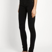 ysl mid rise distressed skinny jeans black - Google Search