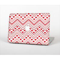 """The Hearts and Dots Vector ZigZag Pattern Skin Set for the Apple MacBook Air 13"""""""