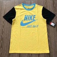 NIKE Woman Men Fashion Print Tunic Shirt Top Blouse