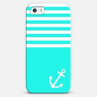 Turquoise Love Anchor Nautical iPhone 5s case by Organic Saturation | Casetagram