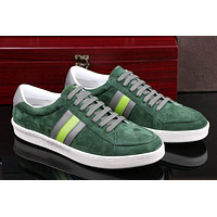 ucci Men's Suede Leather Fashion Casual Sneakers Shoes