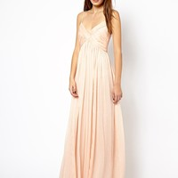 Mango Chiffon Ruch Maxi Dress