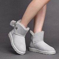 UGG 1017501 Classic Women's Irina Grey Violet Sheepskin Boot Snow Boots