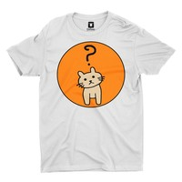 Confused Cat | White T-Shirt