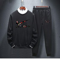 NIKE Women Men Lover Top Sweater Pants Trousers Set Two-Piece