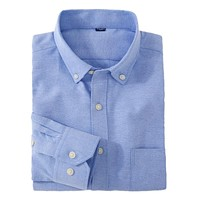 Solid Color Button-up Collar Long Sleeve Shirt