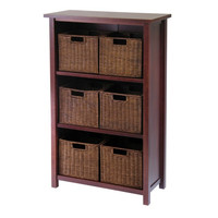Milan 7 Piece Cabinet/Shelf with Baskets
