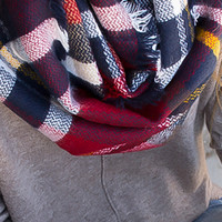 Infinity Plaid Perfection Scarf