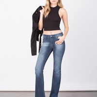 Faded Wash Super Bell Bottom Jeans