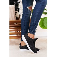 Maybe Next Time Casual Sneakers (Black)