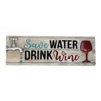 Water & Wine Decorative Sign