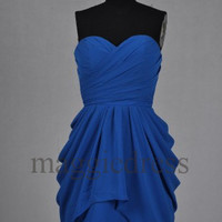 Custom Royal Blue Short Bridesmaid Dresses 2014 Short Bridesmaid Dresses Party Dress Short Prom Dress Evening Dresees Homecoming Dresses