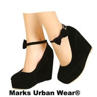 High Heels Shoes Buckle Wedge