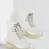 ModCloth Military Lost in Spot Boot in Clear