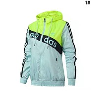 Adidas Trending Women Hoodie Zipper Jacket Coat Windbreaker Sportswear 1#