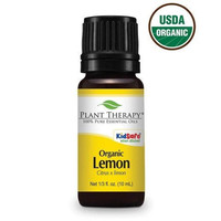 Plant Therapy Certified Organic Lemon Essential Oil