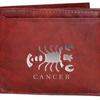 Cancer Sign Leather Wallets
