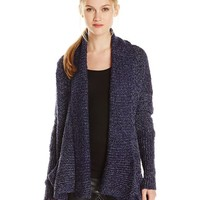 BCBGeneration Women's Two-Tone Boucle Textured Cardigan Sweater