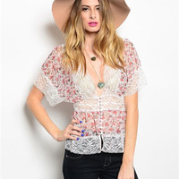 Love Me in Lace Top